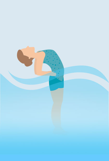Hottub Yoga - Half Moon Pose