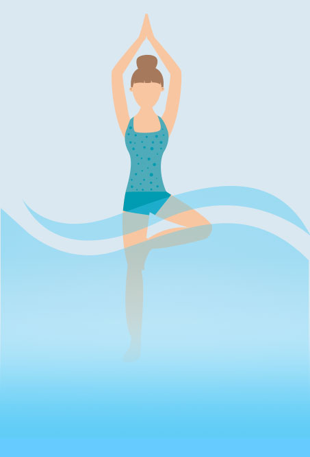 Hottub Yoga - tree Pose