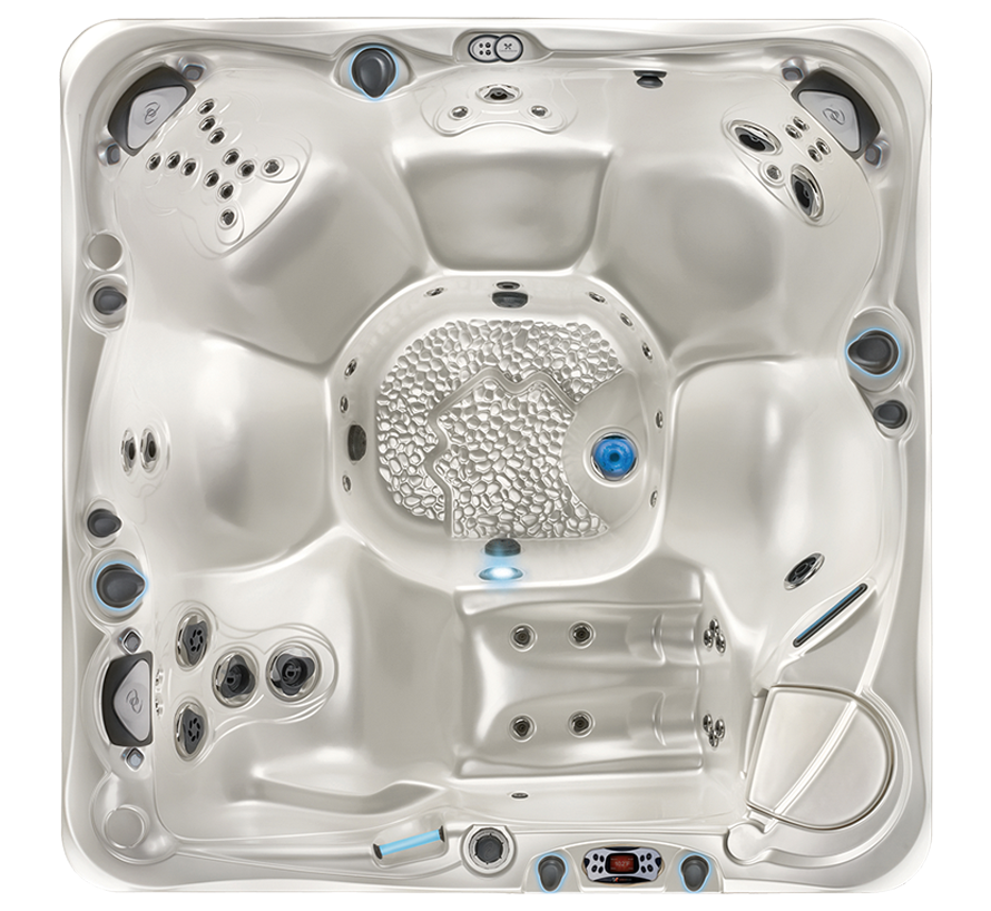 Caldera Utopia Tahitian Hot Tub Overhead View