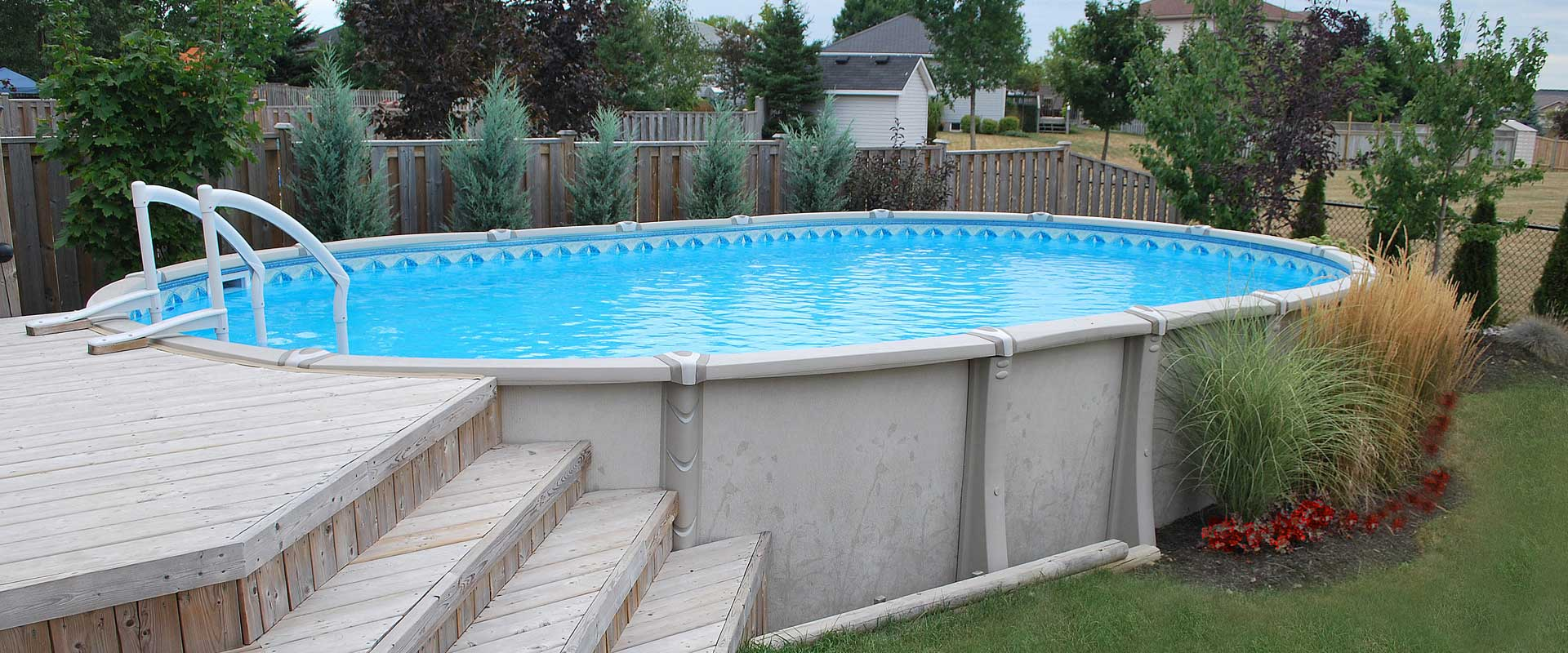 Above ground pools resin steel pioneer family pools - How to put hot water in a swimming pool ...