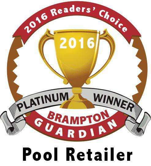 2016 Brampton Guardian Readers' Choice Pool Retailer Platinum Award