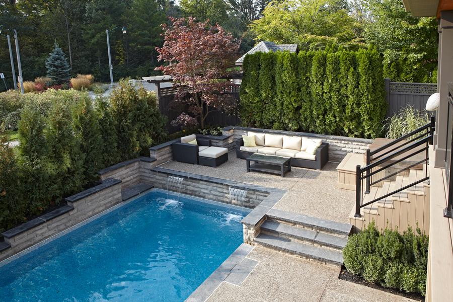 The galloways inground pool pioneer family pools for Pool design kitchener