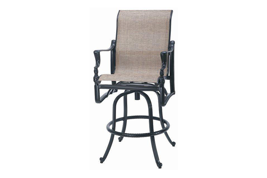 Bel Air High Back Swivel Sling Bar Stool