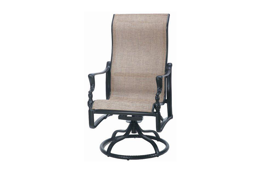Bel Air High Back Swivel Rocking Sling Dining Chair
