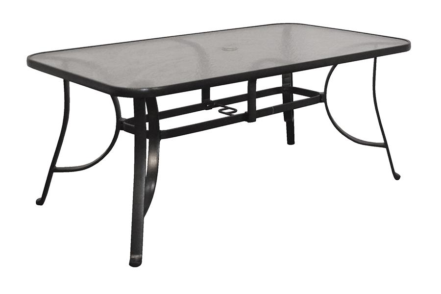 "Eden 38"" x 66"" Rectangular Glass Table"