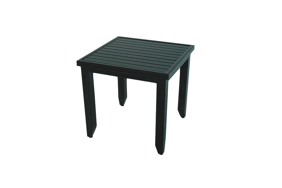 "Greenville 22"" Slatted Square End Table"