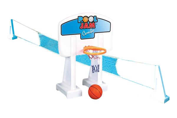 Inground Pool Jam Combo Molded Basketball and Volleyball 9190