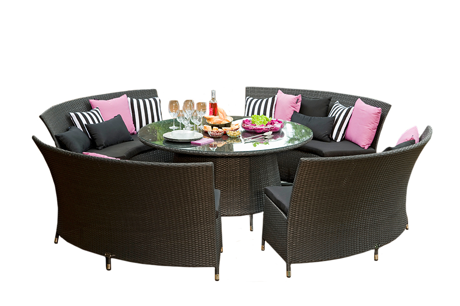 Luxembourg Circular Dining Set