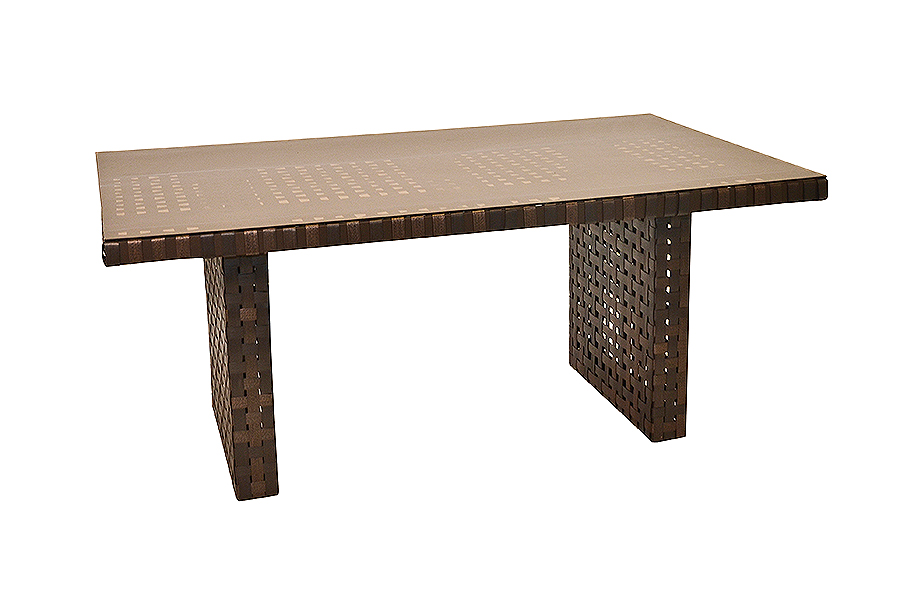 "Monza 40"" x 68"" Glass Dining Table"