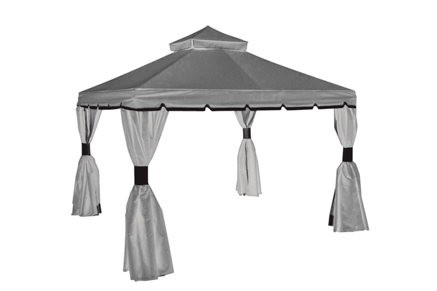 Piedmont Gazebo in Black and Grey