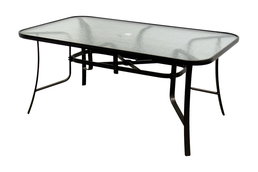 Bronze Glass Dining Table 38″ x 66″