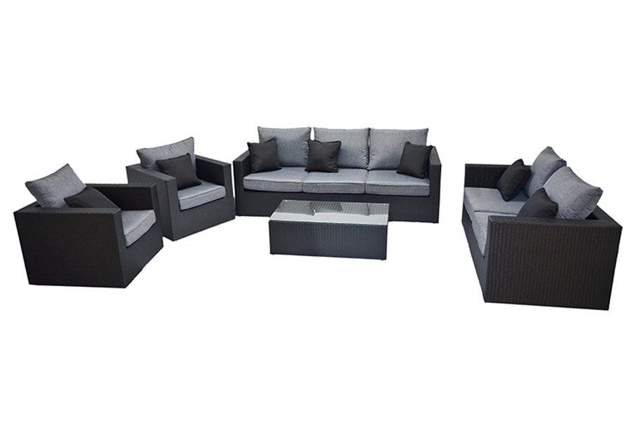 Santa Monica Sofa, Couch, Coffee Table, and Club Lounge Chairs