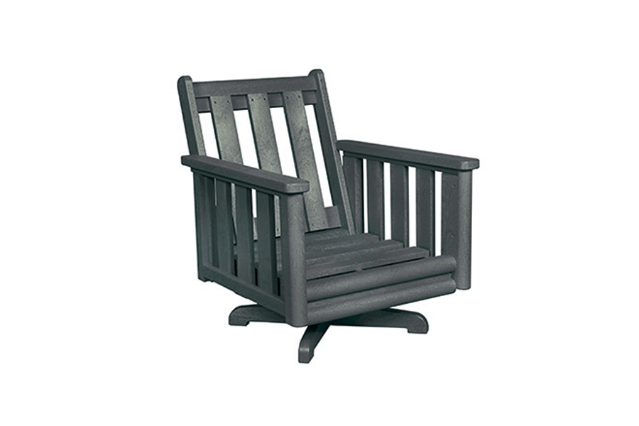 Swivel Lounge Chair Frame Slate Grey