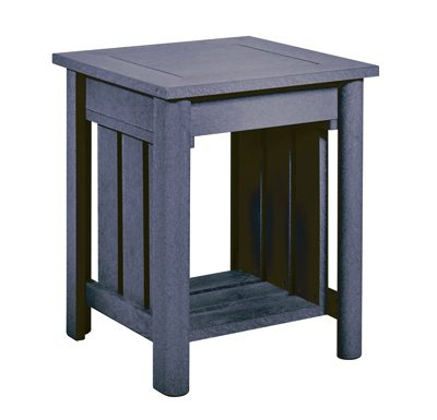 """19"""" Square End Table Slate Grey"""