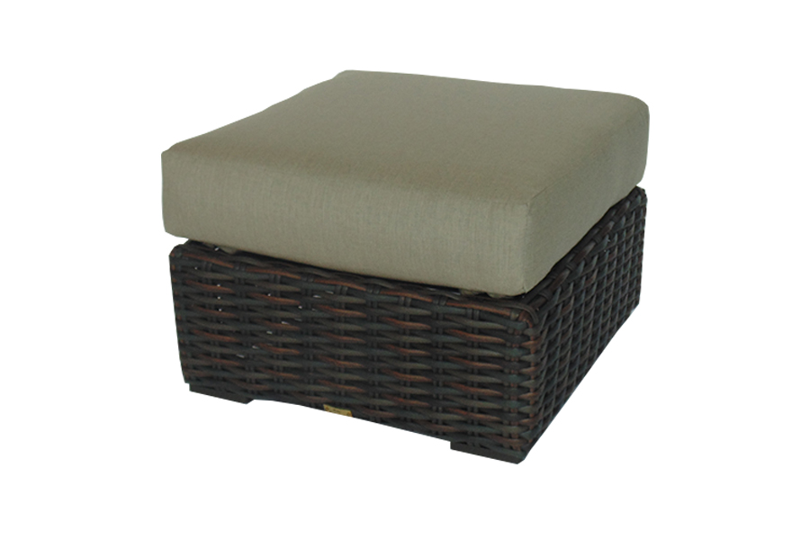 West Lake Brown Ottoman