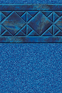 Latham Diamond Bordered Liner Aruba With Blue Granite