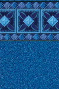 Latham Diamond Bordered Liner Cancun With Blue Granite