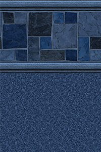 Latham Diamond Bordered Liner Courtstone Blue With Natural Blue Granite