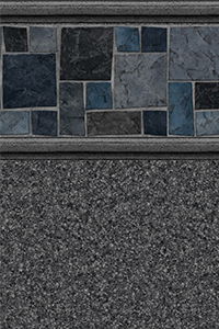 Latham Diamond Bordered Liner Courtstone With Natural Grey Granite