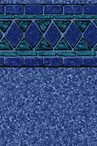 Findlay Diamond Bordered Liner Blue Lancashire With Beach Pebble