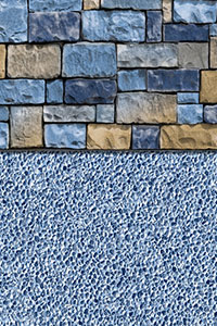 GLI Diamond Bordered Liner Mesa With Gunite Light Blue