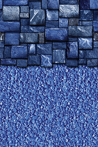 Latham Above Ground Liner Stock Beaded Blue Slate with Streamstone