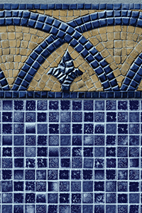 Latham Diamond Bordered Pattern Bourbon St. With Plaza