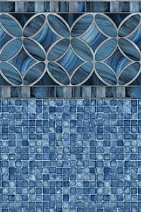 Latham Diamond Bordered Liner Malibu With Blue Mosaic