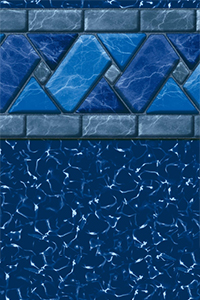 GLI Platinum Bordered Liner Ocean Blue