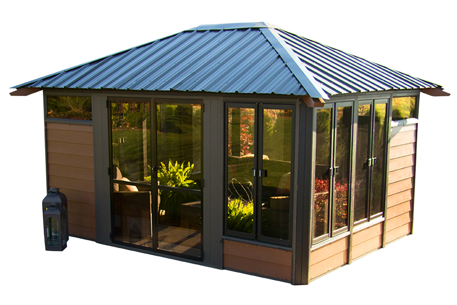 Barcelona 11 39 x14 39 enclosed gazebo made in canada we know patio - Enclosed gazebo models ...