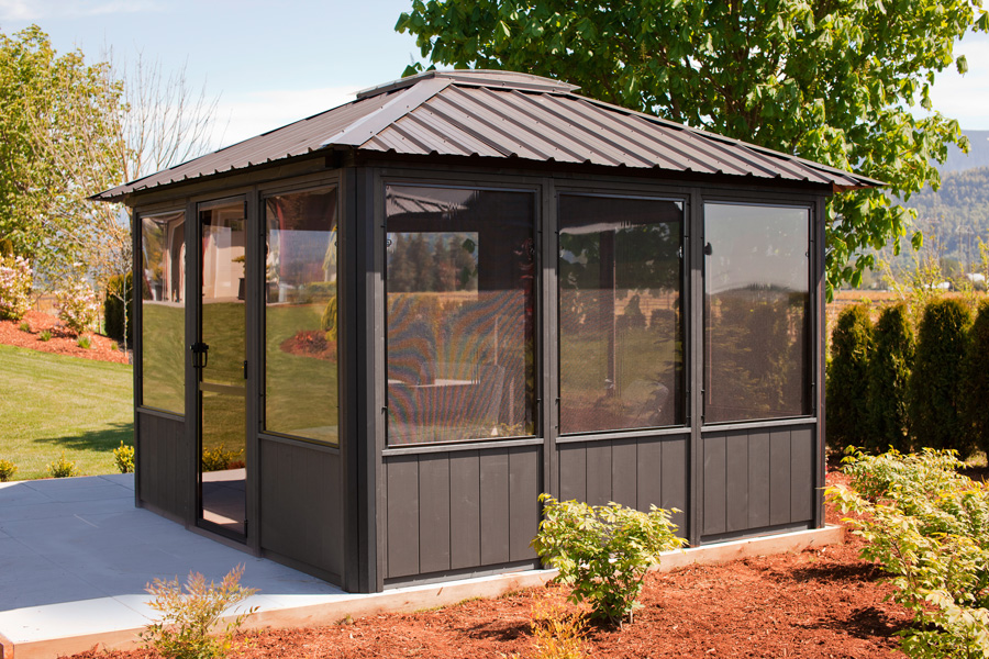 Jasper 11 39 x11 39 enclosed gazebo canadian made - Enclosed gazebo models ...