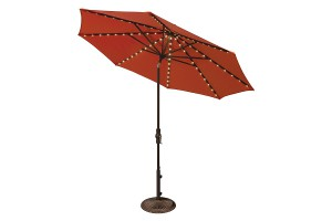 9' Deluxe Market Starlight Collar Tilt Umbrella