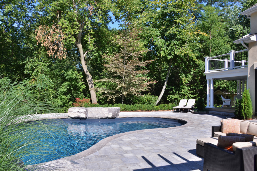 The caughills inground pool pioneer family pools for Pool design kitchener