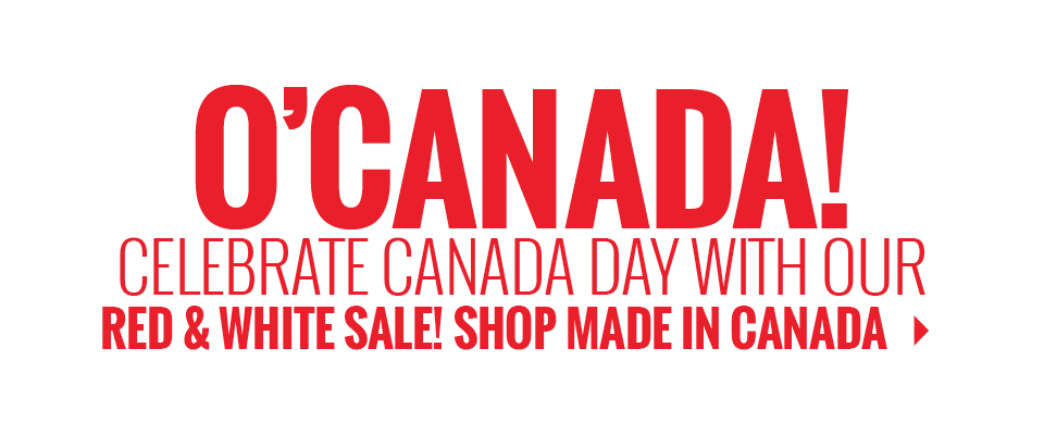 Canada Day Red and White Sale Shop Canadian Made