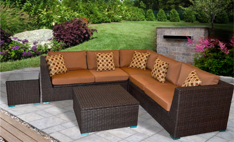 BRANTWOOD 5 PC SECTIONAL