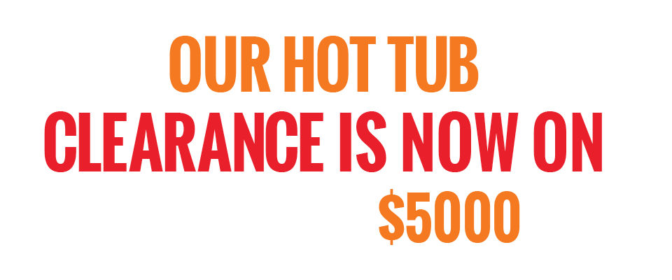 Hot Tub Clearance