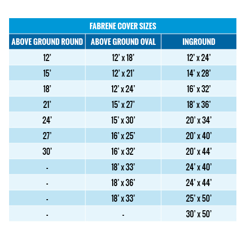 Fabrene Winter Cover Chart