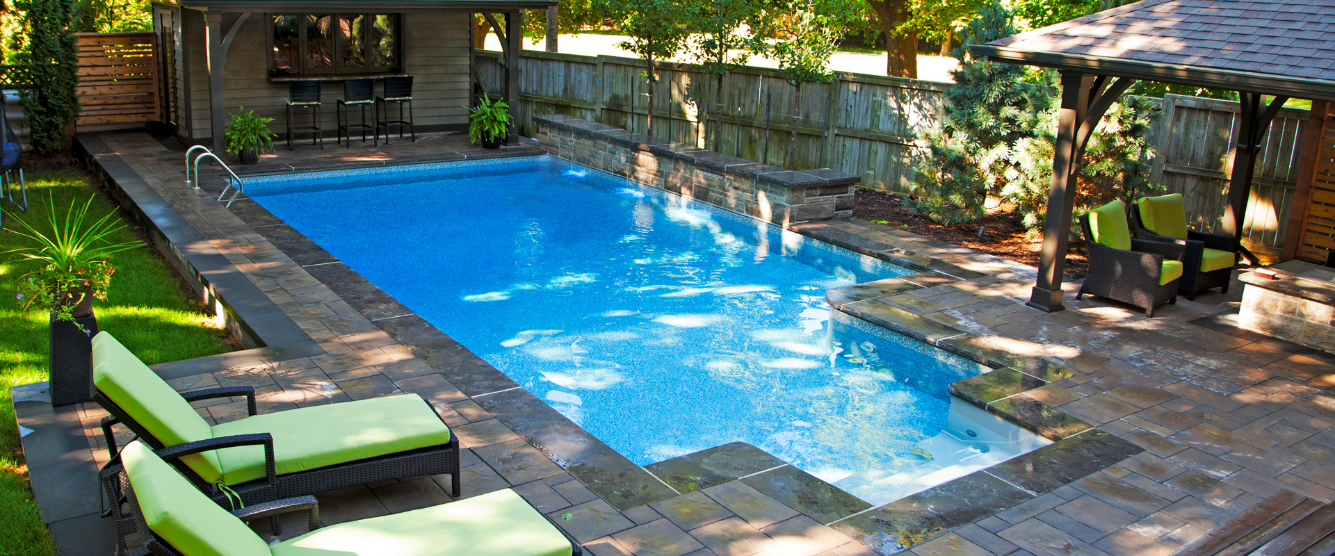 The tsiapalis inground pool showcase pioneer family pools for Pool showcase