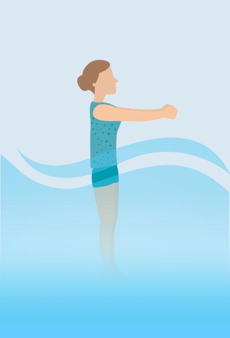 Hottub Yoga - Clock Pose