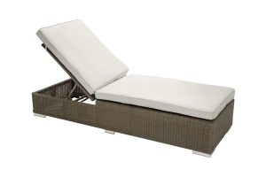 Adjustable Chaise Lounge Resin Wicker