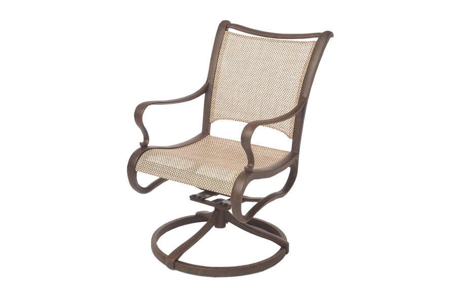 Cast Aluminum Swivel Rocking Chair