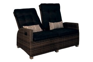 Reclining Loveseat Resin Wicker
