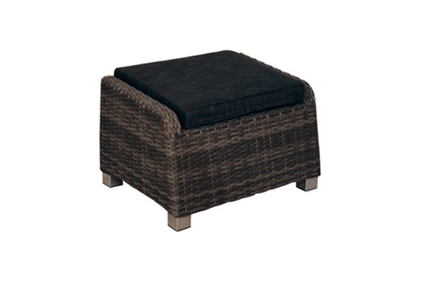 ottoman with cushion resin wicker