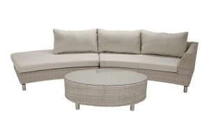 Three Piece Curved Outdoor Sectional