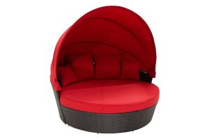 Red Black Moon Bed With Canopy