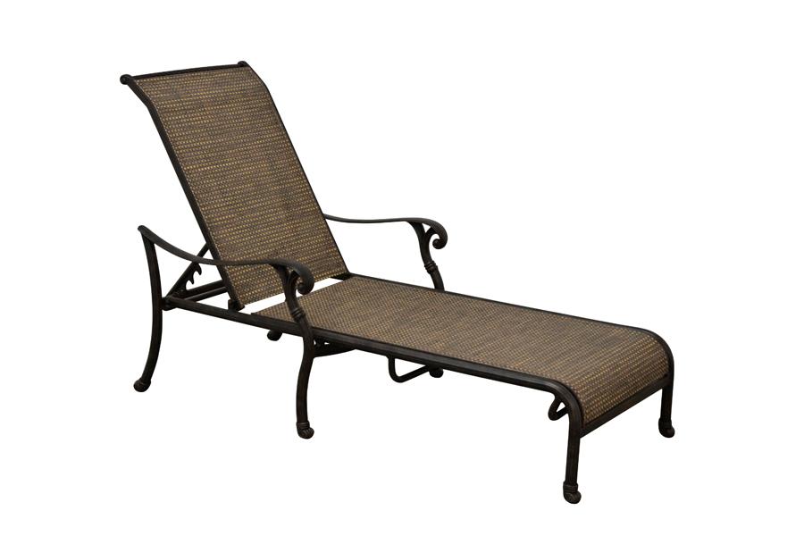 Desert Bronze Sling Chaise Lounge