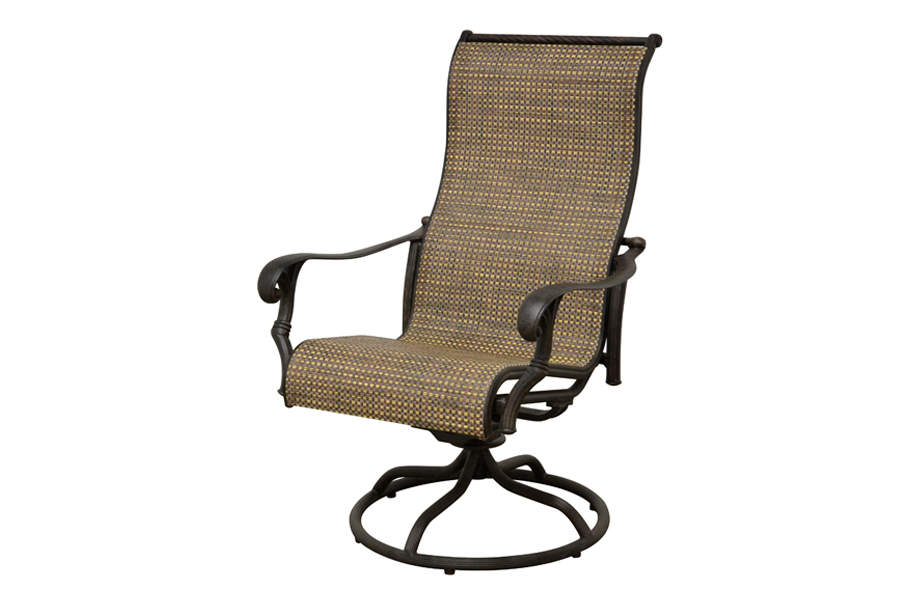 High Back Swivel Rocking Chair