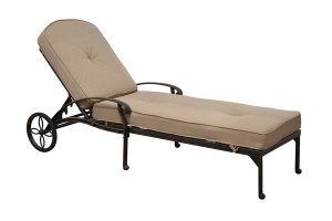 Adjustable Chaise Lounge with Cushion