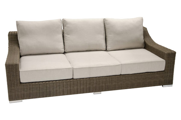 Three Seat Outdoor Sofa Resin Wicker