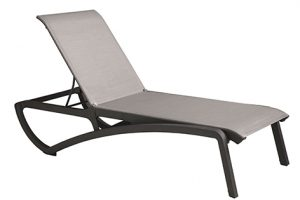 Sunset Chaise Lounge - Volcanic Black